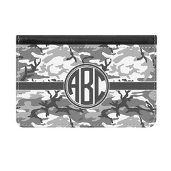 Camo Genuine Leather ID & Card Wallet - Slim Style (Personalized)