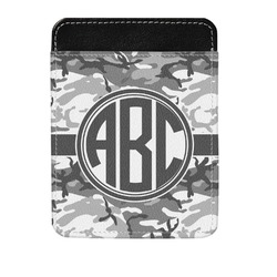 Camo Genuine Leather Money Clip (Personalized)