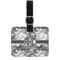 Camo Genuine Leather Rectangular  Luggage Tag (Personalized)