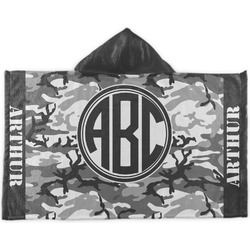 Camo Kids Hooded Towel (Personalized)