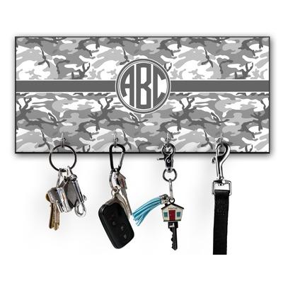 Camo Key Hanger w/ 4 Hooks w/ Monogram