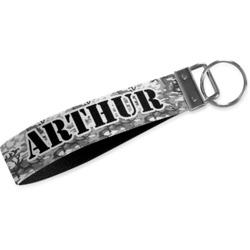 Camo Webbing Keychain Fob - Large (Personalized)