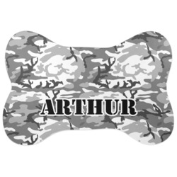 Camo Bone Shaped Dog Food Mat (Personalized)