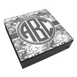 Camo Leatherette Keepsake Box - 3 Sizes (Personalized)