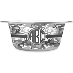 Camo Stainless Steel Pet Bowl (Personalized)