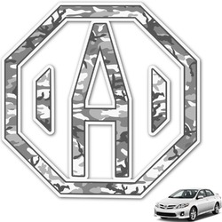 Camo Monogram Car Decal (Personalized)