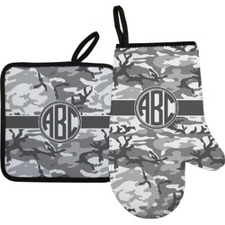 Camo Oven Mitt & Pot Holder (Personalized)