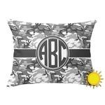Camo Outdoor Throw Pillow (Rectangular) (Personalized)