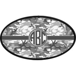 Camo Oval Trailer Hitch Cover (Personalized)