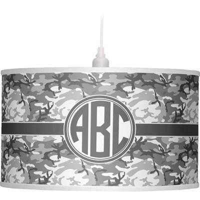 Camo Drum Pendant Lamp (Personalized)