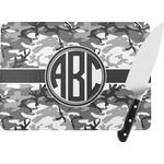 Camo Rectangular Glass Cutting Board (Personalized)