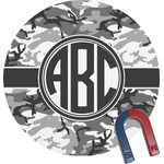 Camo Round Magnet (Personalized)