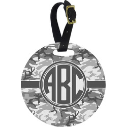 Camo Round Luggage Tag (Personalized)