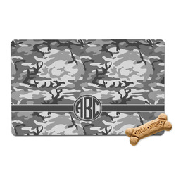 Camo Pet Bowl Mat (Personalized)