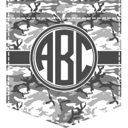 Camo Iron On Faux Pocket (Personalized)