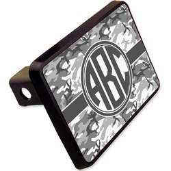 "Camo Rectangular Trailer Hitch Cover - 2"" (Personalized)"