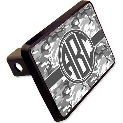 """Camo Rectangular Trailer Hitch Cover - 2"""" (Personalized)"""