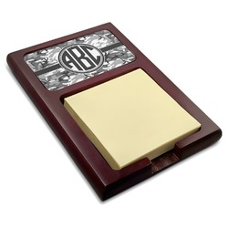 Camo Red Mahogany Sticky Note Holder (Personalized)
