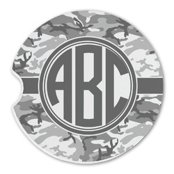 Camo Sandstone Car Coaster - Single (Personalized)