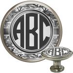 Camo Cabinet Knob (Silver) (Personalized)