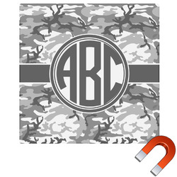 Camo Square Car Magnet (Personalized)
