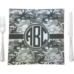 Camo Glass Square Lunch / Dinner Plate 9.5