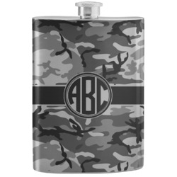 Camo Stainless Steel Flask (Personalized)