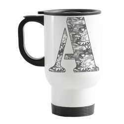 Camo Stainless Steel Travel Mug with Handle
