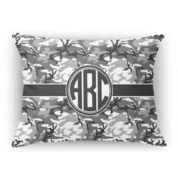 Camo Rectangular Throw Pillow Case (Personalized)