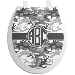 Camo Toilet Seat Decal - Round (Personalized)