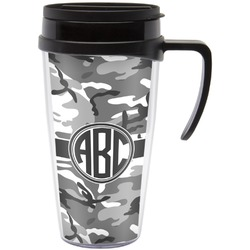 Camo Travel Mug with Handle (Personalized)