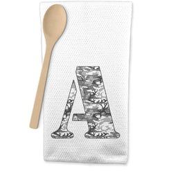 Camo Waffle Weave Kitchen Towel (Personalized)