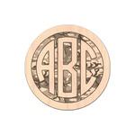 Camo Genuine Maple or Cherry Wood Sticker (Personalized)