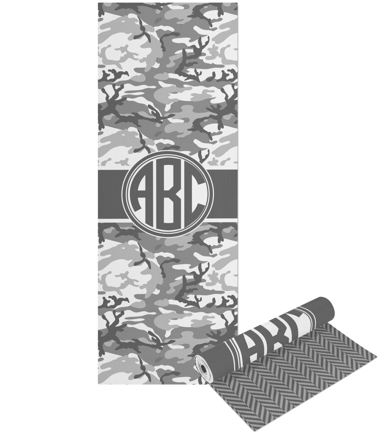 graphic relating to Camo Printable identify Camo Yoga Mat - Printable Entrance and Again (Tailored)