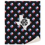 Texas Polka Dots Sherpa Throw Blanket (Personalized)