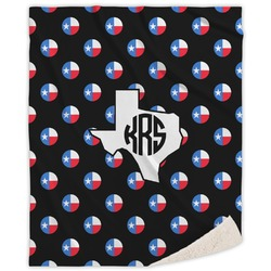 Texas Polka Dots Sherpa Throw Blanket (Personalized)
