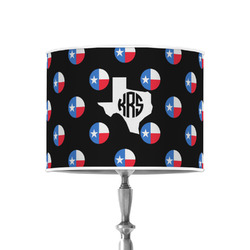 """Texas Polka Dots 8"""" Drum Lamp Shade - Poly-film (Personalized)"""