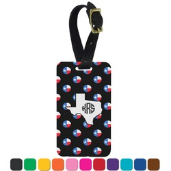 Texas Polka Dots Aluminum Luggage Tag (Personalized)