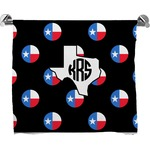 Texas Polka Dots Full Print Bath Towel (Personalized)