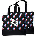 Texas Polka Dots Beach Tote Bag (Personalized)