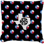 Texas Polka Dots Faux-Linen Throw Pillow (Personalized)