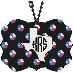 Texas Polka Dots Rear View Mirror Charm (Personalized)