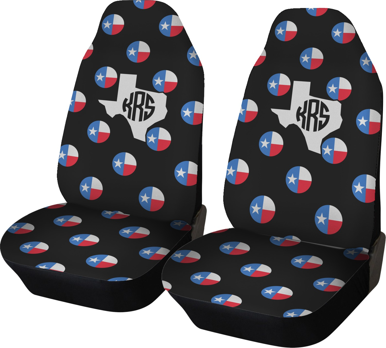Texas Polka Dots Car Seat Covers Set Of Two Personalized