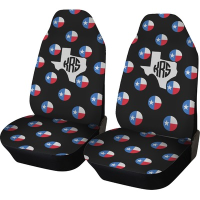 texas polka dots car seat covers set of two personalized you customize it. Black Bedroom Furniture Sets. Home Design Ideas