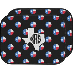 Texas Polka Dots Car Floor Mats (Back Seat) (Personalized)