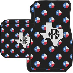 Texas Polka Dots Car Floor Mats Set - 2 Front & 2 Back (Personalized)