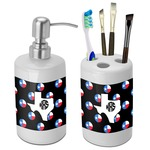 Texas Polka Dots Bathroom Accessories Set (Ceramic) (Personalized)
