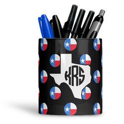 Texas Polka Dots Ceramic Pen Holder