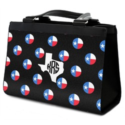 Texas Polka Dots Classic Tote Purse w/ Leather Trim (Personalized)