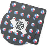 Texas Polka Dots Rubber Backed Coaster (Personalized)